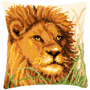 Vervaco Kruissteekkussen kit Leeuw