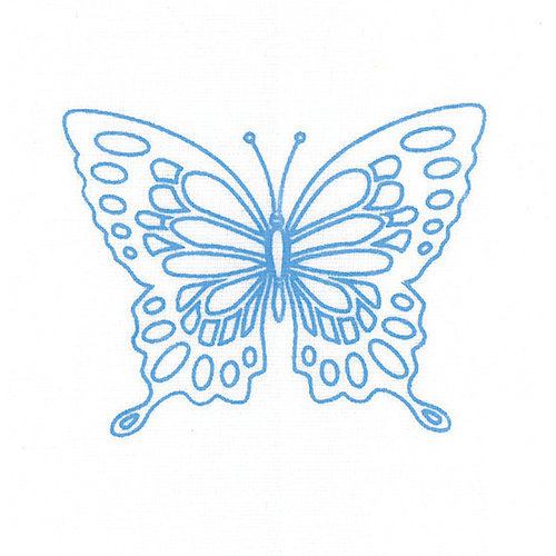 Vervaco Borduur kit met borduurring Vlinders set van 3