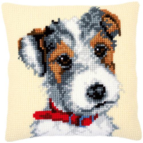 Vervaco Kruissteekkussen kit Hond met halsband