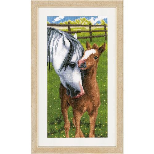 Vervaco Telpakket kit Paard met veulen