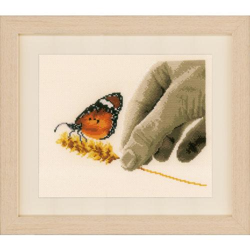 Vervaco Telpakket kit Hand en vlinder