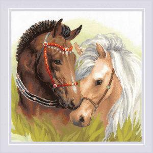 RIOLIS Borduurpakket Pair of Horses - RIOLIS