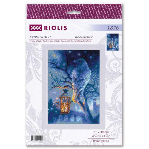 RIOLIS Borduurpakket Wise Raven - RIOLIS