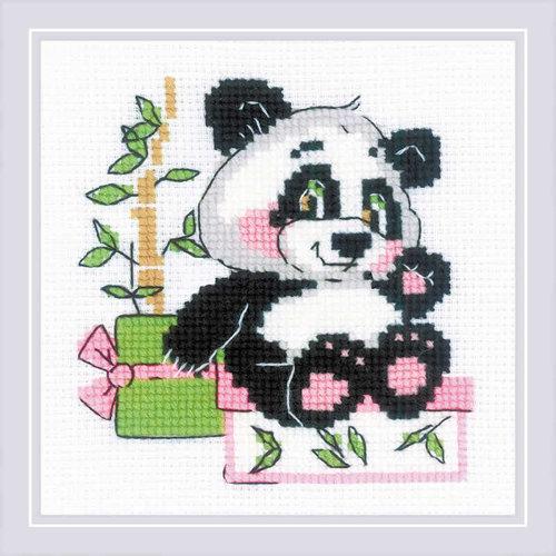 RIOLIS Borduurpakket Panda Gift - RIOLIS