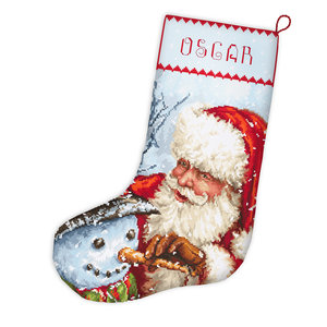 Leti Stitch Borduurpakket Christmas Stocking - Leti Stitch