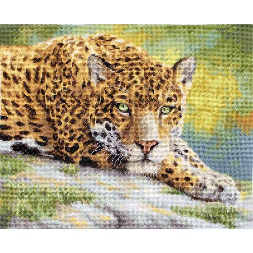Leti Stitch Borduurpakket Peaceful Jaguar - Leti Stitch