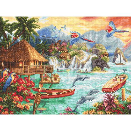 Leti Stitch Borduurpakket Island Life - Leti Stitch