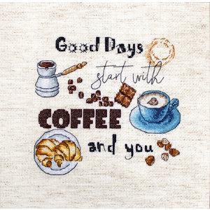 Leti Stitch Borduurpakket Coffee Time - Leti Stitch