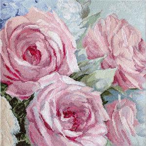 Leti Stitch Borduurpakket Pale Pink Roses - Leti Stitch