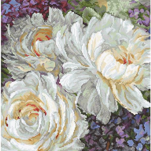 Leti Stitch Borduurpakket White Roses - Leti Stitch