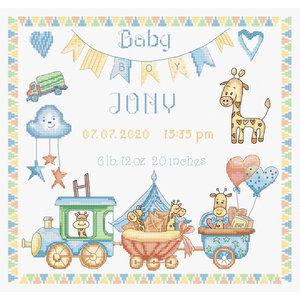 Leti Stitch Borduurpakket Baby Boy Record - Leti Stitch