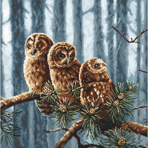Leti Stitch Borduurpakket Owls Family - Leti Stitch
