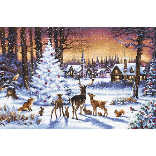 Leti Stitch Borduurpakket Christmas Wood - Leti Stitch