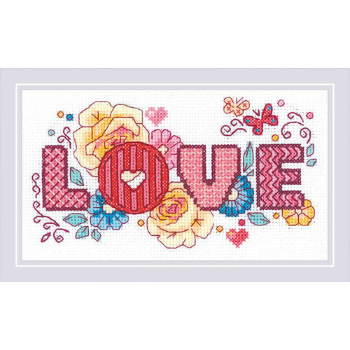 RIOLIS Borduurpakket Love - RIOLIS