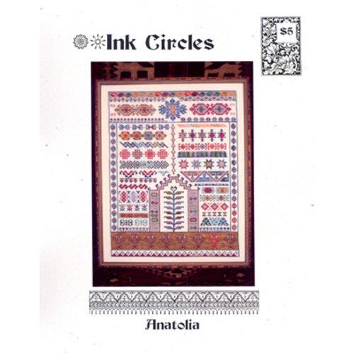 Ink Circles Borduurpatroon Anatolia