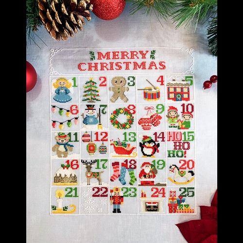 Tiny Modernist Borduurpatroon Christmas Calendar