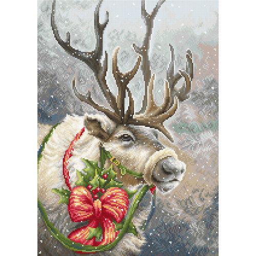Luca-S Borduurpakket Christmas Deer - Luca-S