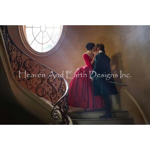 Heaven and Earth Designs  Outlander The Series: Kiss on the Stairs