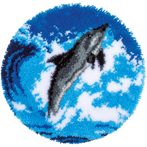 Vervaco Knoopvormtapijt kit Dolfijn