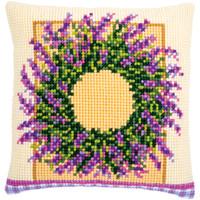 Kruissteekkussen kit Lavendelkrans