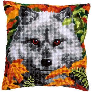 Vervaco Kruissteekkussen kit Wolf