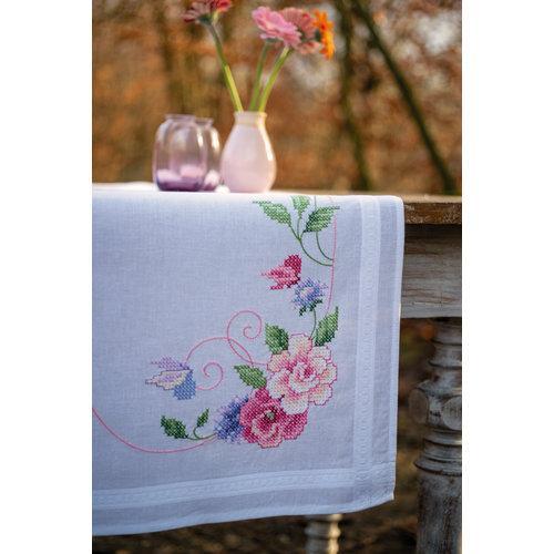 Vervaco Loper kit Bloemen met vlinders