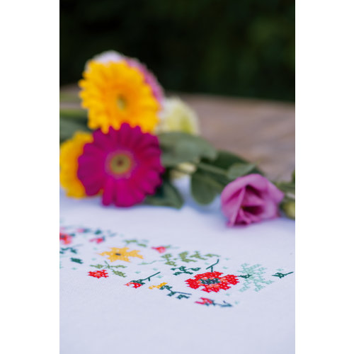 Vervaco Loper kit Frisse bloempjes