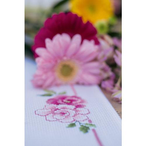 Vervaco Pearlaida loper kit Boeket klassieke bloemen