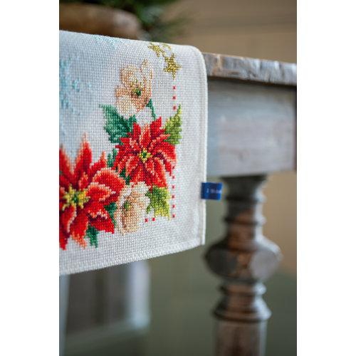Vervaco Pearlaida loper kit Kerstbloemen