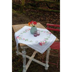 Vervaco Tafelkleed kit Bloemen met vlinders