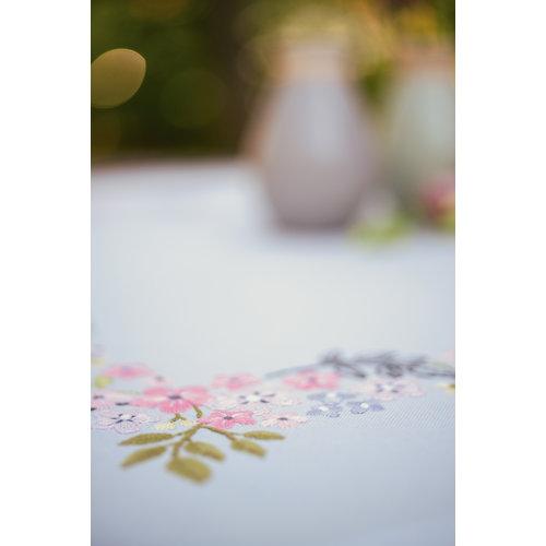 Vervaco Tafelkleed kit Bloempjes en blaadjes