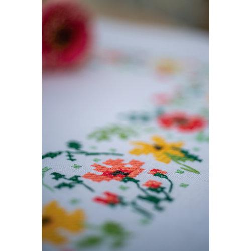 Vervaco Tafelkleed kit Frisse bloempjes