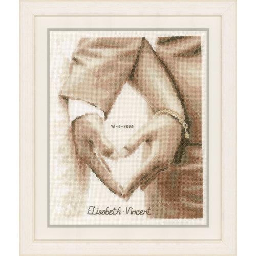 Vervaco Telpakket kit Hartje van het bruidspaar