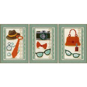 Vervaco Miniatuur kit Vintage accessoires set van 3