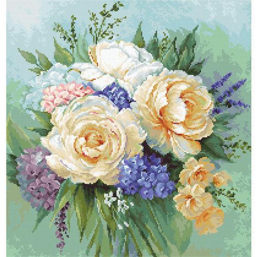 Luca-S Borduurpakket Floral Bouquet - Luca-S