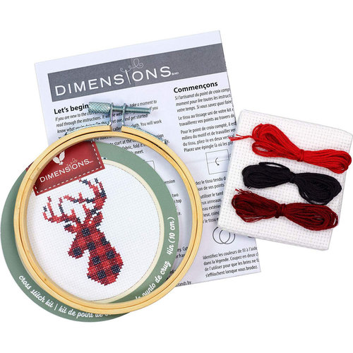 Dimensions Borduurpakket Plaid Deer - DIMENSIONS