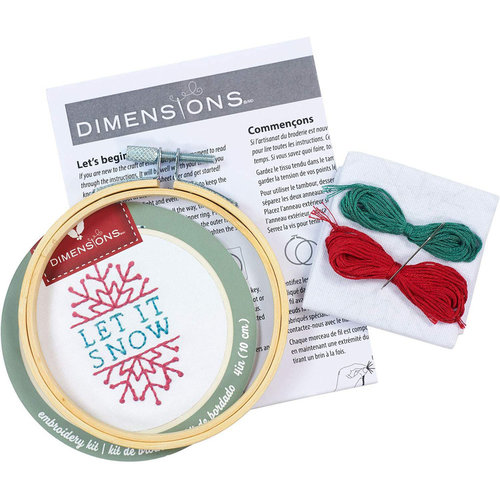 Dimensions Borduurpakket Let it Snow - DIMENSIONS
