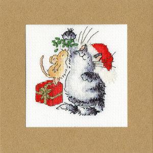 Bothy Threads Borduurpakket Margaret Sherry - Under The Mistletoe - Bothy Threads