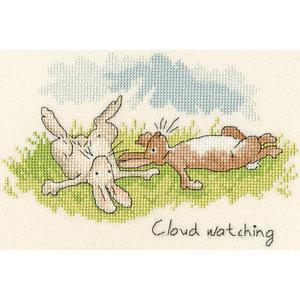 Bothy Threads Borduurpakket Anita Jeram - Cloud Watching - Bothy Threads