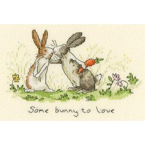 Bothy Threads Borduurpakket Anita Jeram - Some Bunny To Love - Bothy Threads