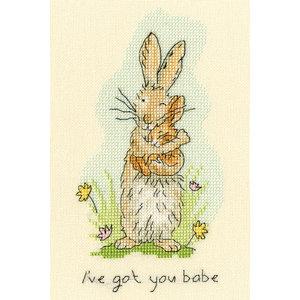 Bothy Threads Borduurpakket Anita Jeram - I've Got You Babe - Bothy Threads