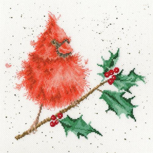 Bothy Threads Borduurpakket Hannah Dale - Festive Feathers - Bothy Threads