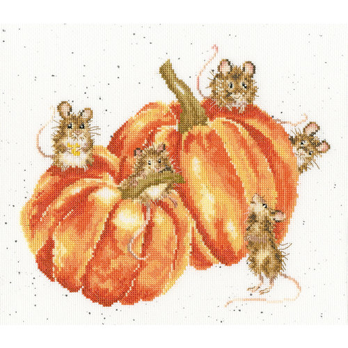 Bothy Threads Cross stitch kit Hannah Dale - Pumpkin, Spice And All Things Mice - Bothy Threads