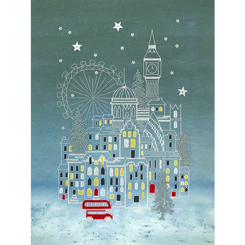Bothy Threads Cross stitch kit Alison McGarrigle - Snowy London - Bothy Threads