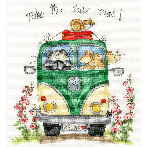 Bothy Threads Cross stitch kit Margaret Sherry - Take The Slow Road - Bothy Threads