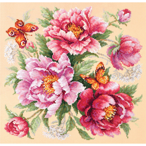 Chudo Igla Cross stitch kit Flower Magic - Peonies - Chudo Igla