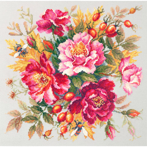Chudo Igla Cross stitch kit Flower Magic - Dogrose - Chudo Igla