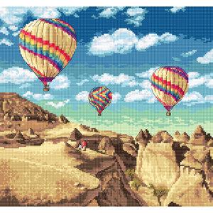 Leti Stitch Borduurpakket Balloons over Grand Canyon - Leti Stitch
