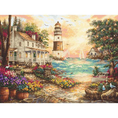 Leti Stitch Cross stitch kit Cottage by the Sea - Leti Stitch