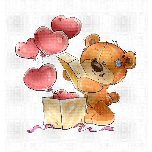 Luca-S Cross stitch kit Teddy Bear Opening Box - Luca-S